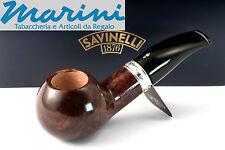 Pipa Pipe pfeife Savinelli Trevi mod. 320 semicurva (bocciotta) scura lucida