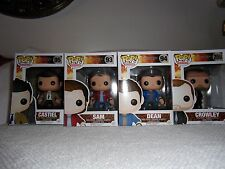 NIB Funko Pop Supernatural Vinyl Lot Castiel With Wings, Crowley, Dean, Sam