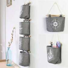 Mini Cotton Storage Pocket Home Wall Hanging Organizer Bag Hanger Holder Hot