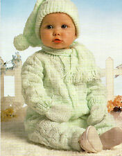 Baby Knitting Patterns DK  Cardigan , Hat, Trousers, Hat and Scarf  16 - 22  #69