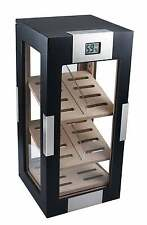 Visol DogWood Black Matte Vertical 150 Count Cigar Display Humidor NEW
