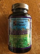 Green Pasture Blue Ice Royal Butter/Fermented Cod Liver Oil Capsule NEW STOCK