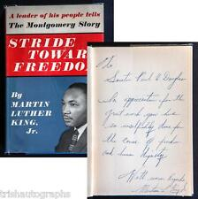 MARTIN LUTHER KING JR. HANDWRITTEN SIGNED SENATOR DOUGLAS -CIVIL RIGHTS MOVEMENT