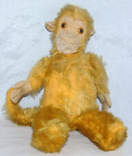 ANTIQUE VINTAGE GOLDEN YELLOW MOHAIR STUFFED MONKEY JOCKO STEIFF SCHUCO ANIMAL