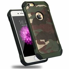 iPhone 5 5s Army Green Shockproof Drop Protective Case Military Guard Camo Cover