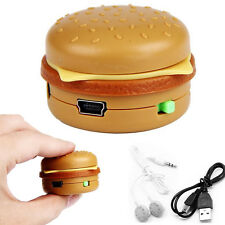 Hamburger USB Mini Music MP3 Player Support 32GB Micro SD TF Card With Earphone