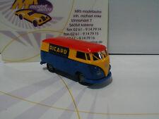 """Brekina 32665 # VW T1B Kasten Baujahr 1967 """" Ricard """" in blau-gelb-rot 1:87 NEU"""