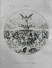 ROMA=Condannazione di Jean de Brienne GIOTTO= LAMAITRE.ITALIA LAZIO.Artaud.1835.