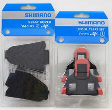 Shimano Road SPD-SL Pedal SM-SH10 Fixed Float Shoe Cleats & SM-SH45 Cover Set