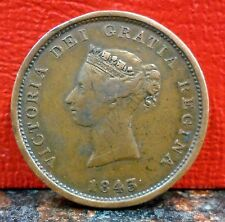Very Nice Higher Grade 1843 New Brunswick Canada Province One Penny Token KM# 2