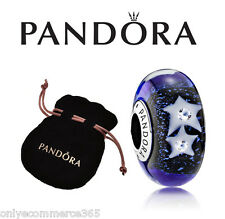 Genuine PANDORA Murano Glass Charm - Night Sky - 791662CZ
