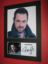 DANNY DYER A4 PHOTO MOUNT SIGNED REPRINT AUTOGRAPH EASTENDERS DEADLIEST MEN