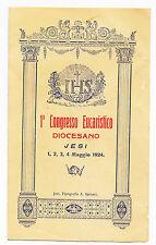 S11-JESI-1 CONGRESSO EUCARISTICO DIOCESANO 1924