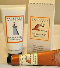 crabtree & evelyn Gardeners Hand Recovery Cream and Therapy Cream Set new