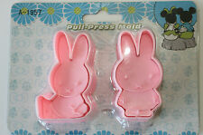 Plunger Cutters in Miffy Design, Set of 2 Plunger Cutters, Sugarcraft, Fondant