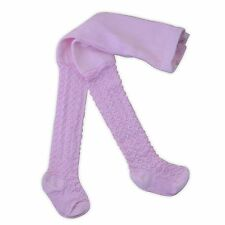 Baby Girls Tights Pink White or Cream Heart and Diamond Design