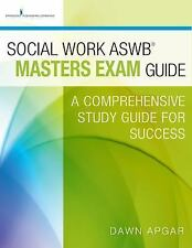 Social Work ASWB Masters Exam Prep Guide by Dawn Apgar - NEW