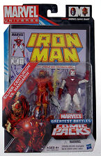 GREATEST BATTLES marvel universe SILVER CENTURION VS. MANDARIN 2 pack iron man