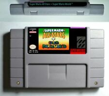 Super Mario All-Stars + Super Mario World SNES Cart Only FREE SHIPPING