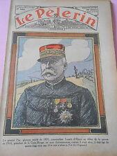 Le Génral Pau glorieux Mutilé de 1870 armée d'Alsace dessin Print 1932