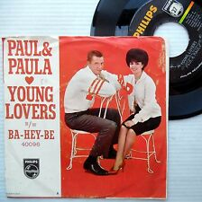 PAUL & PAULA pop 45 Picture Sleeve Young Lovers / Ba Hey Be vg++ Philips e0953
