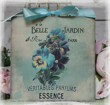 "NEW! ""Belle Jardin"" Vintage Shabby Country Cottage Chic style Wall Decor. Sign"