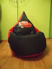 """Sitzsack XL """" von Lux""""  ca 340 l Lederoptik rot Polyester schwarz Disney Cars 3"""