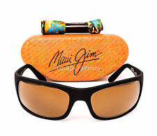 MAUI JIM Peahi MJ 202-2M Sunglasses Matte Black / HCL Bronze Polarized - NEW