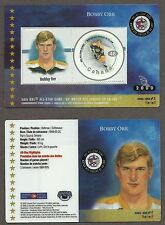 2000 Canada Post Bruins' Bobby Orr 50th All-Star Game Laminated Stamp Card