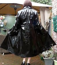 LOLLY MAID shiny black wet look thick pvc vinyl womans raincoat   TV fetish