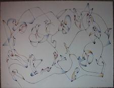 JAN VOSS Lithographie signée numérotée lithograph Kein Ausweg aus dem Labyrinth