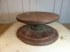 Antique oak turntable or display stand