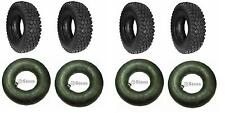 (4 New) 4.10/3.50-5 Tires and 4 New Tubes for Go cart Go Kart Minibike Parts