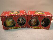 2-Garfield Christmas Mug & Ornament 1996 Vintage New in Gift Boxes collectible