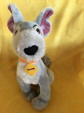 """Disney/Toy Factory LADY AND THE TRAMP 12"""" Gray Puppy Plush Stuffed Animal"""