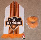 New HOUSTON DYNAMO Soccer SCARF & HAT Adidas supporters club MLS Jersey Orange