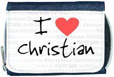 I Love Heart Christian Denim Wallet