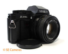 MINOLTA X-370s 35MM SLR CAMERA + MINOLTA MD 50MM F2 LENS MINT
