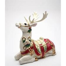 "Appletree Maureen Drdak Christmas Fantasia Sitting Reindeer Figure 9"" Tall 10678"