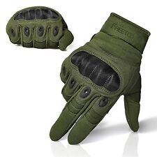 FREETOO® Adjustable Men's Tactical Gloves Hard Knuckle Sewn-in Brass Knuckles...