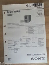 Schema SONY - Service Manual Mini Hifi Component System HCD-MD515 HCDMD515