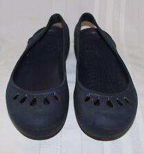CROCS Malindi Navy Blue Rubber Slingback Ballet Flats sz 11