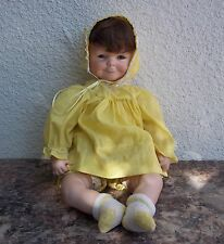 Vintage Multi Faced Bisque Baby Doll 3 Face Smiling Crying Sleeping Wig Outfit
