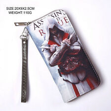 NEW Popular Cartoon Assassin's Creed Rogue Bifold PU Leather Zipper Long Wallet