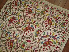 Vintage Unique Silk Embroidered Handmade Suzni Suzani Uzbek Uzbekistan