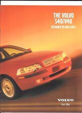 VOLVO S40 V40 SALES BROCHURE NOVEMBER 2000 FOR 2001 MODEL YEAR