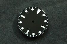 Plain Milsub Watch 27mm Dial for DG 2813 Movement w/o date White Lume