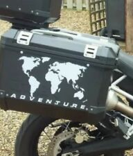 A PAIR R1200GS Adventure World map Pannier STICKERS Decals GRAPHICS