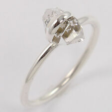 FREE SHIPPING 925 Sterling Silver Natural HERKIMER DIAMOND Ring Size US 7.75