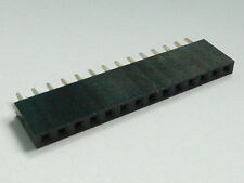 4x 14-Pin Female PCB Header, Single Row, 2.54mm - USA Seller - Free Shipping